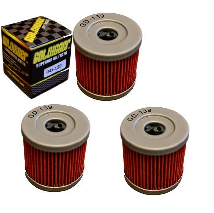 GOLDIGGER After Market HF139 & KN-139 Replacement Oil Filter Powersports/Motorcycle/Dirt Bike/ATV (3 Pack) by GOLDIGGER (Image #4)