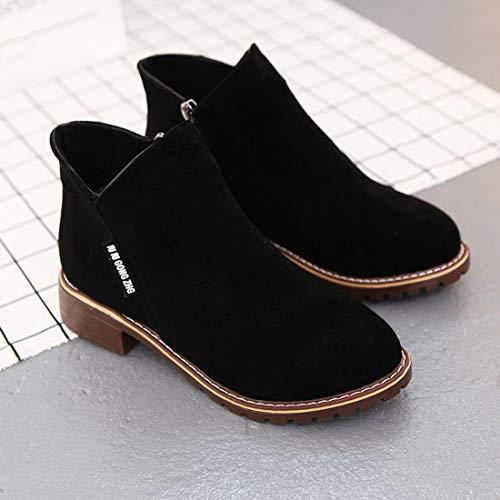 Bottes Cheville Femmes De Talons Martin F Bottes Mode Courtes Bottes Chunky Chaussures r0qaFwqdR