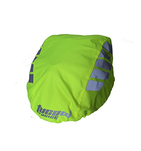 Tucool Racing Night Visual Waterproof Dustproof Windproof Bike Bicycle Cycling Helmet Cover Rain Cover (Fluorescent Green)