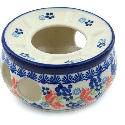 polish pottery teapot with warmer - 9