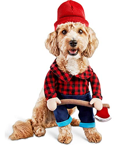 Lumberjack Logger Stand-Up Stuffed Body Dog Costume - Medium - Large -