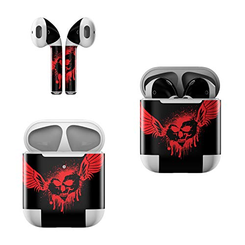 Skin Decals for Apple AirPods - Dark Heart Stains - Sticker Wrap Fits 1st and 2nd ()