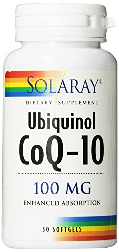 Solaray CoQ-10 Ubiquinol Capsules, 100mg, 30 Count