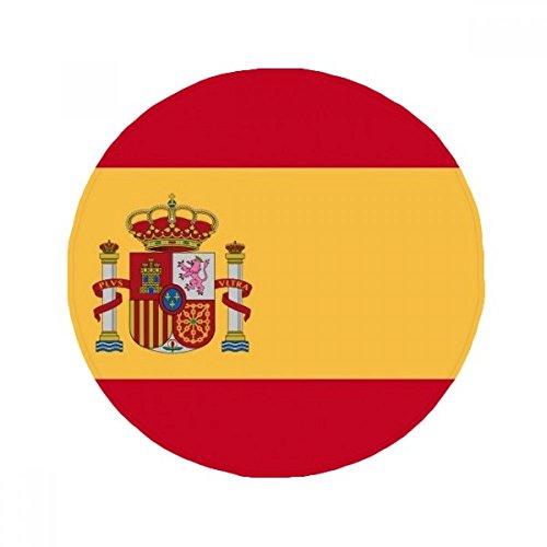 DIYthinker Spain National Flag Europe Country Anti-slip Floor Pet Mat Round Bathroom Living Room Kitchen Door 60/50cm Gift by DIYthinker