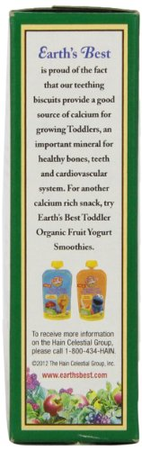 Earth's Best Organic Toddler Biscuits, Barley, 12 Biscuits