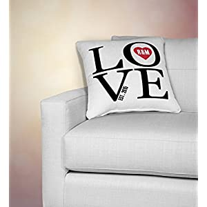 personalized love print pillow cover, personalized pillowcase, family gift, personalized pillowcases, 2nd anniversary, two year anniversary cotton gift