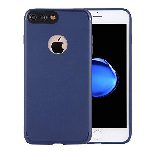 MXNET IPhone 7 Plus Fall, Ultra-dünner TPU mattierter schützender rückseitiger Abdeckungs-Fall CASE FÜR IPHONE 7 PLUS ( Color : Dark blue )