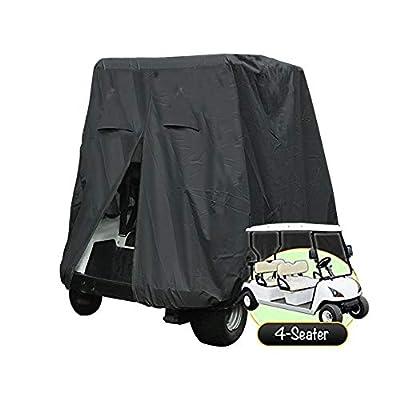 FLYMEI 4 Passenger Golf Cart Cover Fits EZ GO Club Car and Yamaha, Waterproof, Dustproof Durable