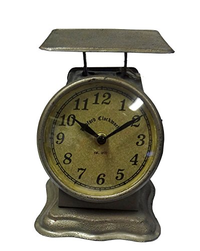 Postage Scale Clock 21 Rustic Iron