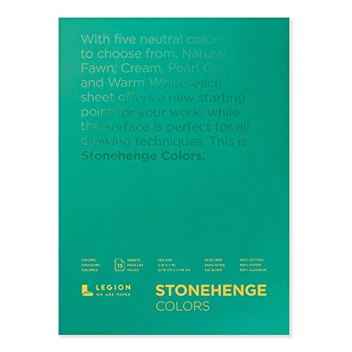 Legion Stonehenge Multicolor Pad, 5 X 7 inches, 15 Sheets (Stonehenge Pad)