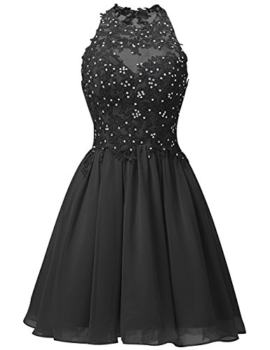 JYDress - Vestido - trapecio - para mujer negro negro 46
