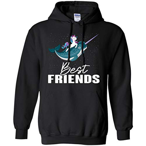 Awesome Unicorn and Narwhal Best Friends Fun Gift Shirt - Unisex Hoodie