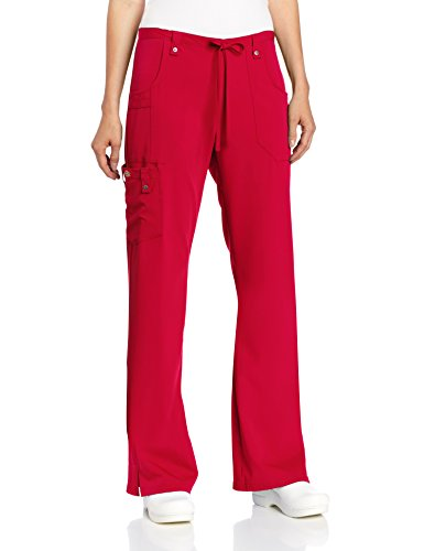 Dickies Women's Xtreme Stretch Fit Drawstring Flare Leg Pant, Red, X-Small ()