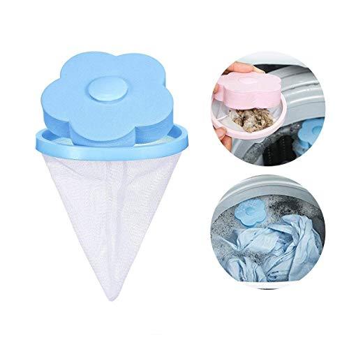 KOBWA Reusable Washing Machine Hair Removal Laundry Ball Floating Washing Machine Lint Mesh Bag Hair Catcher Filter Net Pouch,1 Pcs