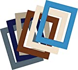 "Sax Precut Show Off Mat, Tan, Cream, Gray, Blue, Brown, 12"" L x"