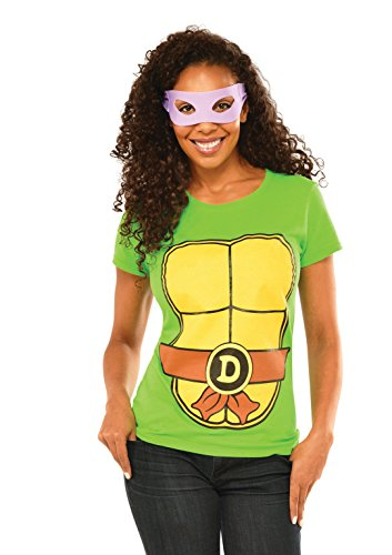 Rubie's Costume Teenage Mutant Ninja Turtles Top With Mask and Donatello, Green, X-large (Ninja Turtles Costume For Women)