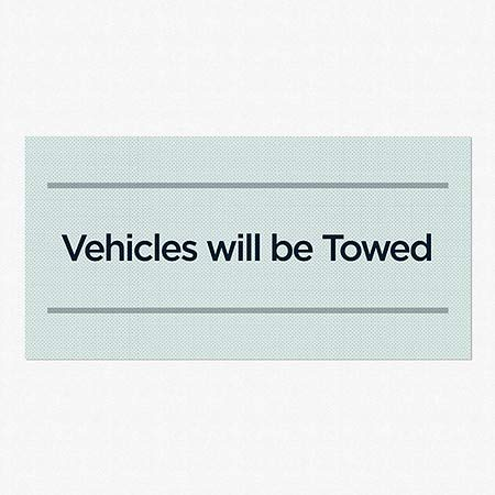 5-Pack CGSignLab Basic Teal Perforated Window Decal Vehicles Will Be Towed 96x48