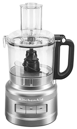 KitchenAid KFP0718CU 7-Cup Food Processor Chop, Puree, Shred and Slice - Contour Silver (Food Processed)