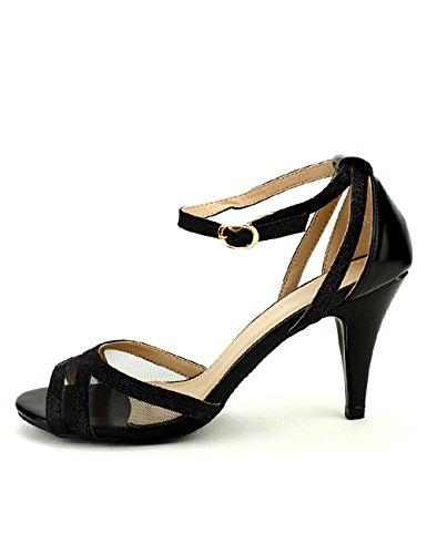 Chaussures Cinks Noir Femme Escarpin Résille Cendriyon nqaIgYWw