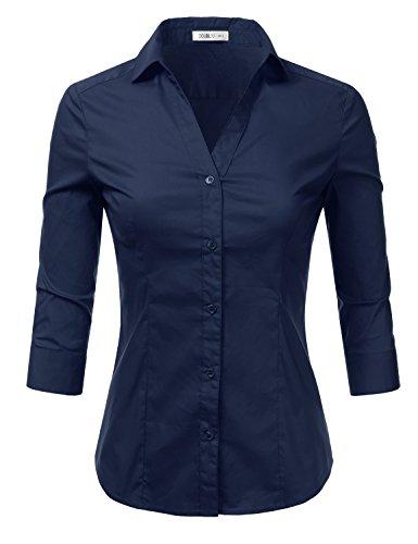 Navy Blue Button Down Shirt - 8