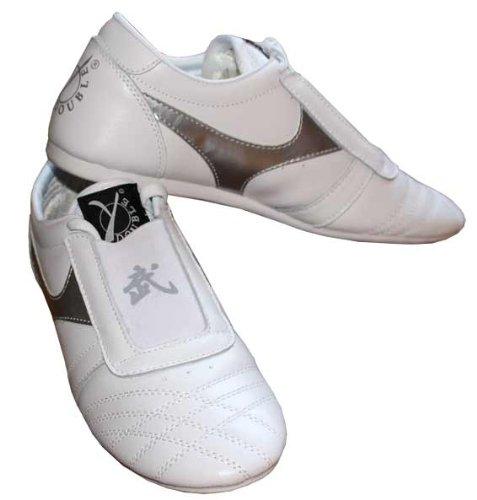 Double Y - Zapatillas de piel para artes marciales, color blanco
