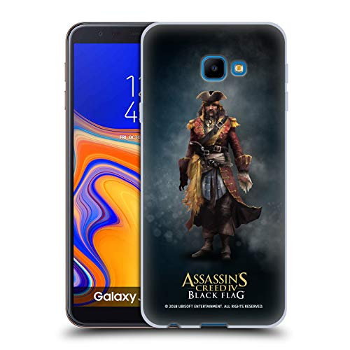 Official Assassin's Creed Bartholomew Roberts Black Flag Characters Soft Gel Case for Samsung Galaxy J4 Core