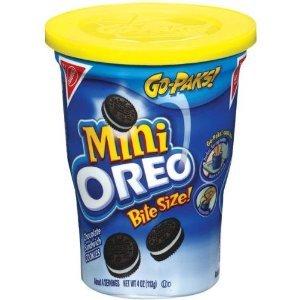 Oreo Mini Sandwich Cookies Bite Size Go-paks 3.5 Oz (Pack of 6) (Chocolate) (Bite Size Oreos)