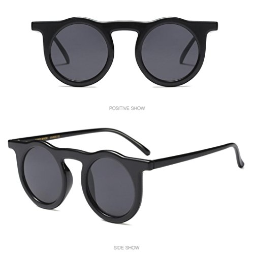 Yqt80510199b de rétro Round lunettes Femmes Ladies soleil lunettes Rameng Man Frame Vintage Fashion 67Xgqqax