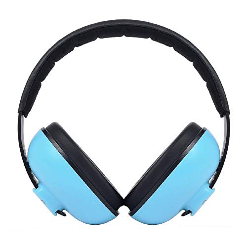 Baby Ear Protection Safety Ear Muffs Noise Reduction for Newborn Infant Autism Kids Toddlers 31dB NRR Sound Cancelling Headphones for Sleeping Studying Airplane Concerts Movie Theater Fireworks, Blue