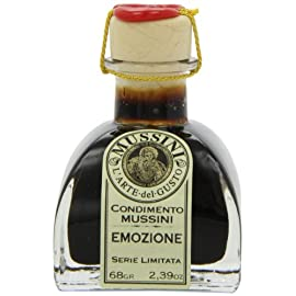 Mussini 20 Year Balsamic Vinegar, Emozione Balsamica, 2.39 Ounce Glass Bottle 2 2.39 ounce glass bottle A perfect gift for the chef perfect dressing for any special dish From mussini in modena italy