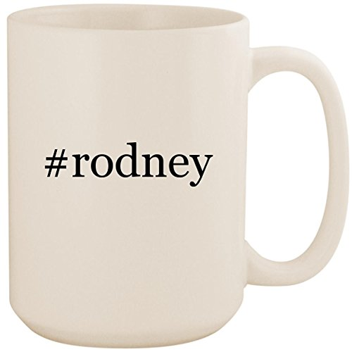 #rodney - White Hashtag 15oz Ceramic Coffee Mug