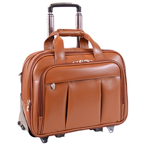 McKleinUSA Damen 80714 R Series Leather Detachable-Wheeled Laptop Case (Brown)
