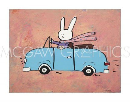 """Lala knows she shouldn't text and drive by Brian Nash 10""""x10"""" Art Print Poster"""