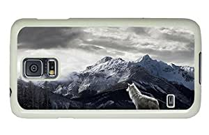 Hipster Samsung Galaxy S5 Case popular Mountains Gray Wolf PC White for Samsung S5