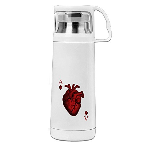 [Bekey Ace Of Hearts Stainless Steel Vacuum Travel Mug With Handle Cup Water Bottle] (Lightning Strike Costume)