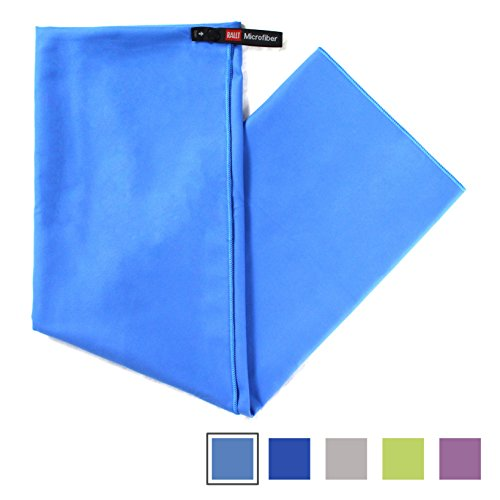 "Rallt Camping Travel Towel - Compact Quick Dry Microfiber - Bath Towel, 30"" x 60"", Blue"