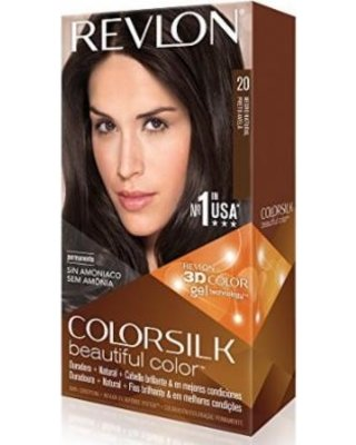 (VALUE PACK OF 3) REVLON COLORSILK BEAUTIFUL PERMANENT HAIR COLOR #20 BROWN BLACK