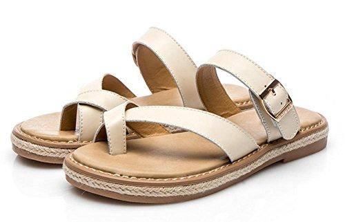Beige Y Planas Zapatos Zapatillas Los Las Mujeres Retro Salvaje Sandalias Estudiantes De Verano E7Sq7d