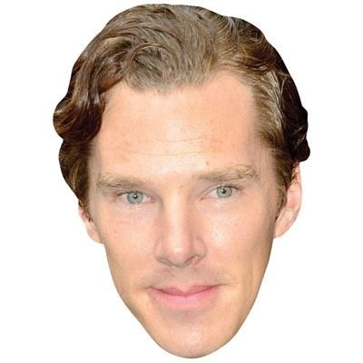 Benedict Cumberbatch Celebrity Mask, Cardboard Face and Fancy Dress Mask (Fancy Face Masks)
