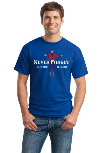 NEVER FORGET: BIG TEX Unisex T-shirt/Texas State Fair Icon Memorial, Lone Star Texan Tee-Blue