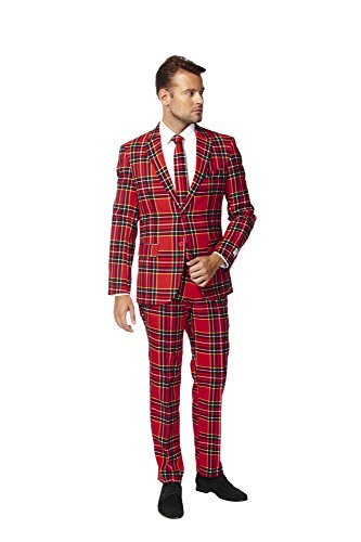 OppoSuits Men's The Lumberjack Party Costume Suit, Multi, 52 (Costume Ideas For Men With Beards)