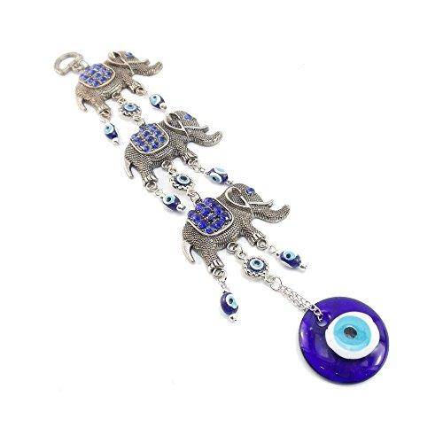 Turkish Evil Eye Hamsa Hand Protection Wall Hanging Decoration Ornament (12.6