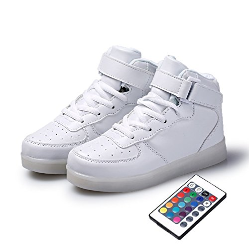 Shihualine (tm) Scarpe Da Donna Sneakers Alte Scarpe Da Uomo Con Led Usb (8.5us-women / 7us-men)