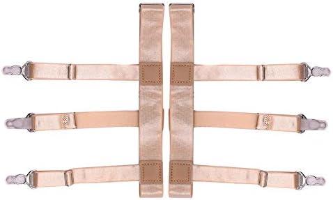 Abboard - Cinturón de Liga para Camisa de Hombre con Pinzas de Bloqueo Antideslizantes, Color Carne, SC-H: Amazon.es: Hogar