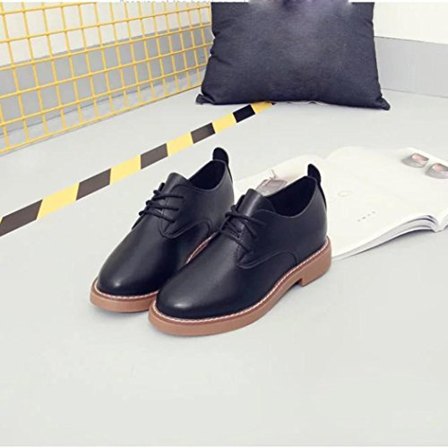 Mocassini Work Ladies Lace Women Shoes Lazy Nero Heel Transer Shoes Comfy Flats FdqZn08