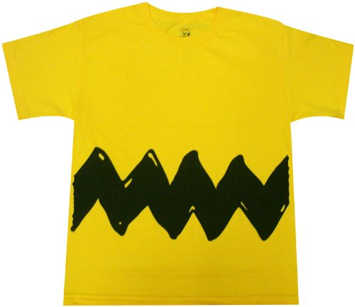 Peanuts Charlie Brown Costume Youth T-shirt (Youth X-Large, (Kids Peanuts Charlie Brown Costumes)