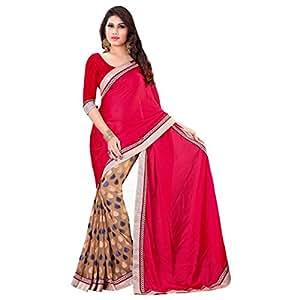 Shilp-Kala Jacquard , Satin Embroidered Beige Colored Sarees SKWV2017A