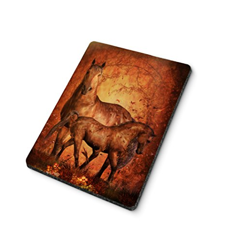 Autumn Horse and Foal Mouse Pad