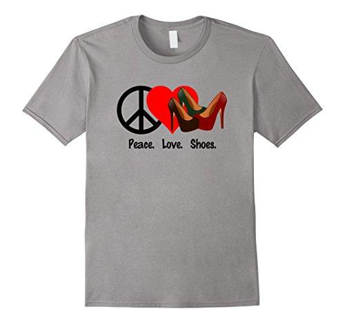 Peace Love Shoes T-Shirt Shirt Tee - Humor Pumps High Heels from Fun Fashion Clothing & Accessories Shirts