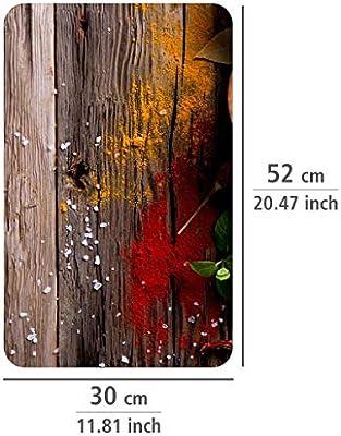 Multicolor 52x30x4.5 cm Wenko Juego cubre vitros de Cocina Universal Especias 2 Unidades Vidrio